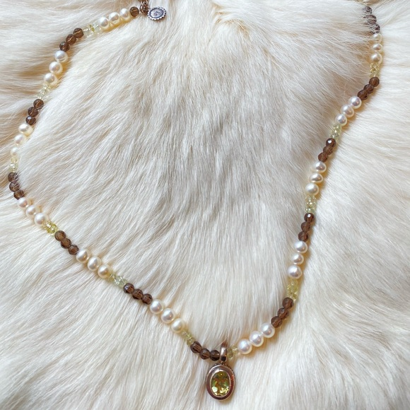 Willow House by Sara Blaine Lemon Quartz Necklace